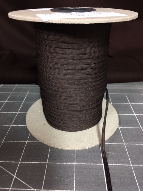 Brown Polyester Middy Braid 288 yards at 1/8inch