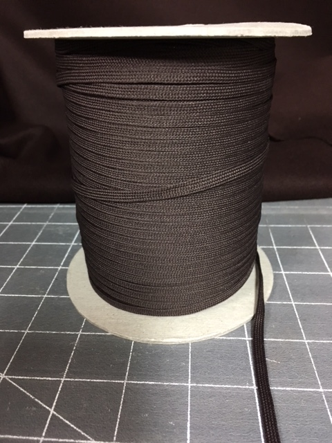 Brown Polyester Middy Braid 288 yards at 3/16inch
