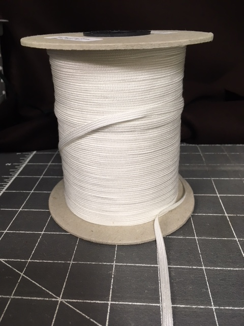 White Rayon Middy Braid 288 yards at 3/16inch