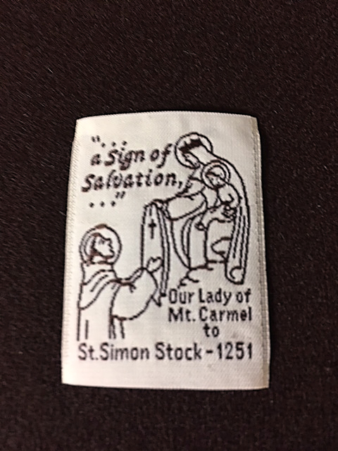 Individual print of '...a Sign of Salvation...' scapular.